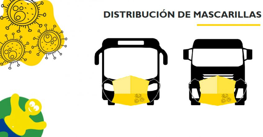 distribución mascarillas